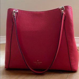 NWT Kate Spade Red Triple Compartment Shoulder Bag